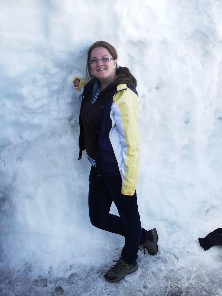 pushing the snow :)