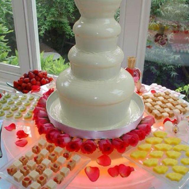 Fuente de chocolate blanco para tu boda