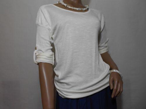 Blusa blanca en punto