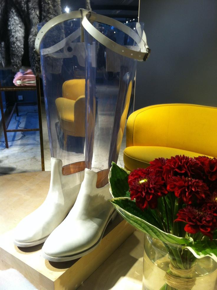 Acne Boots I covet.  At Acne HQ, Stockholm.  #PinStockholm