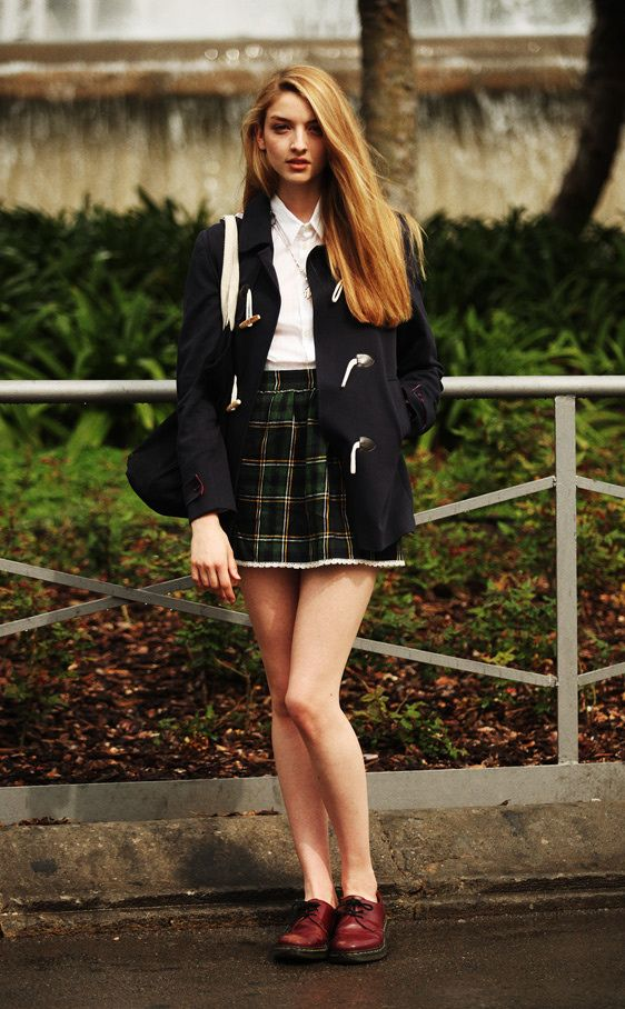 Skirt soo short but I love her docs!