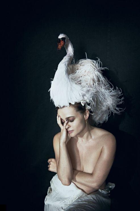 Helena Bonham Carter photographed by Peter Lindbergh