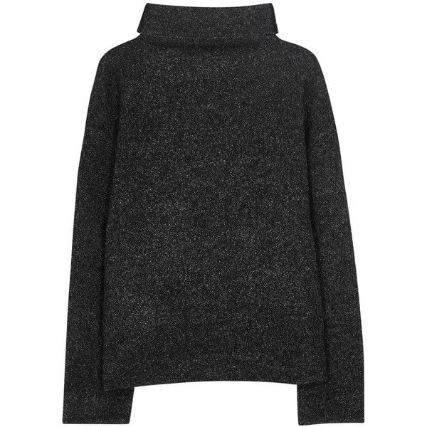 Womens Jumpers Isabel Marant Étoile Dypton Anthracite Roll-neck Jumper ($280) ❤ liked on Polyvore featuring tops, sweaters, jumpers sweaters, jumper top, drop shoulder tops, roll neck sweater and etoile isabel marant sweater