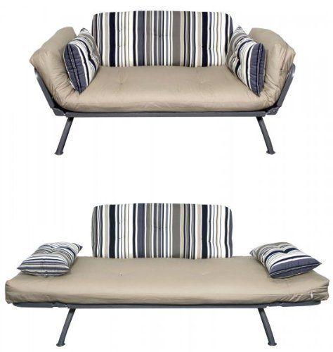 American Furniture Alliance Modern Loft Collection Futon Mali Flex Combo,  Newport Navy Stripe By American