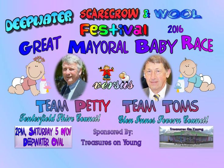 The Great Mayoral Baby Race - Sponsored event by Treasures on Young of Deepwater
