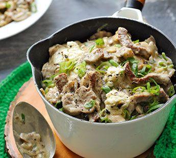 Geschnetzeltes (schnitzel evt. vervangen door kalkoen & zelf funghi saus maken: http://www.ah.nl/kookschrift/recept?id=325925 & smaakboter truffel vervangen door truffelolie)