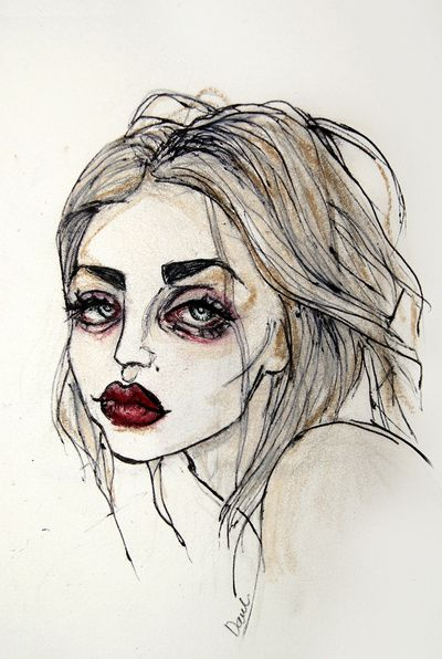 Frances Bean Cobain no.3 Art Print by Lucas David