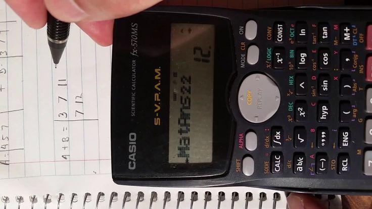 Suma de matrices.  ¿Cómo utilizar una calculadora científica Casio fx-57...