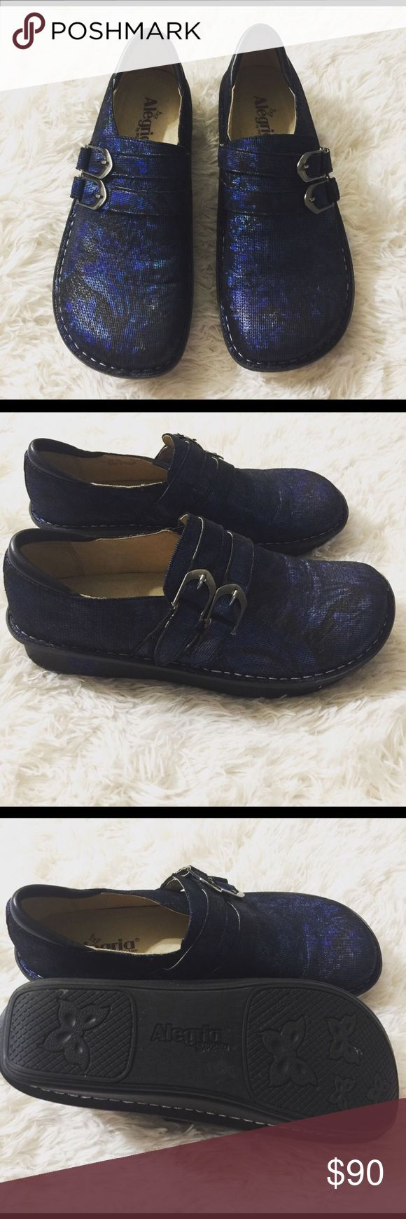 Alegria blue and black patterned mules Alegria blue and black patterned mules size 41 Alegria  Shoes Mules & Clogs