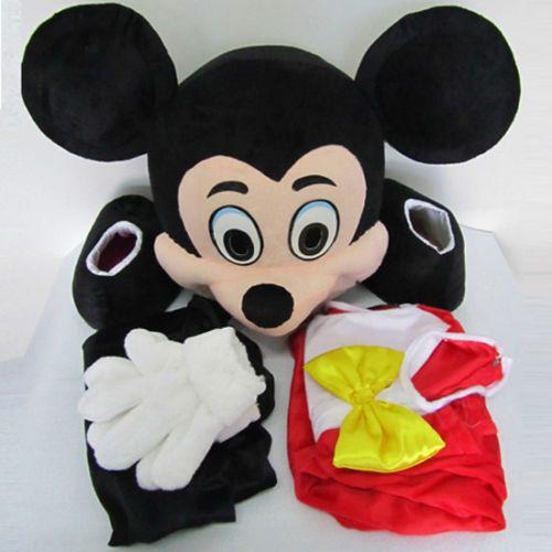 Venta caliente Mickey y Minnie Mouse Mascota Disfraz para Adultos Ropa Fiesta Vestido de fantasía
