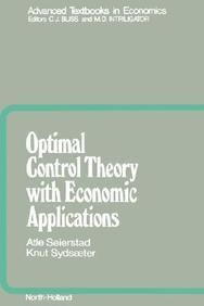 Optimal Control Theory With Economic Applications  Hard Bound