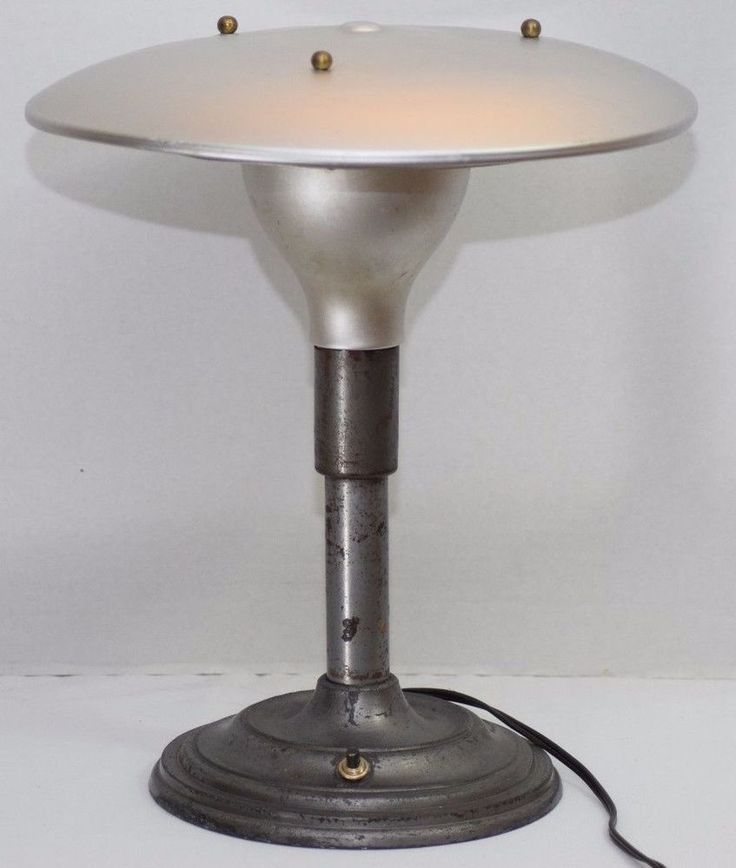 MID CENTURY MODERN SAUCER ATOMIC LAMP INDUSTRIAL EAMES ERA ARTISTIC LAMP CO NYC
