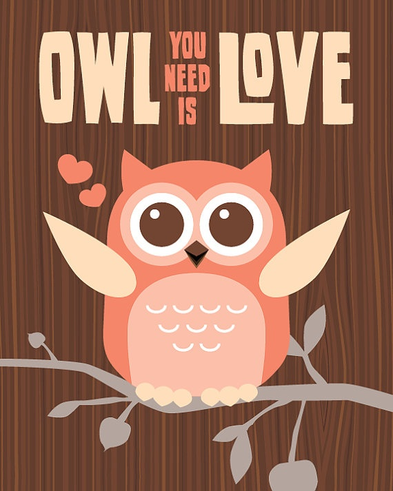 Owl you need is loveWall Art, Owls Quotes, Owls Wood, Pink Walls, Random Quotes, Frames Prints, Art Prints, Baby, Quotes About Life