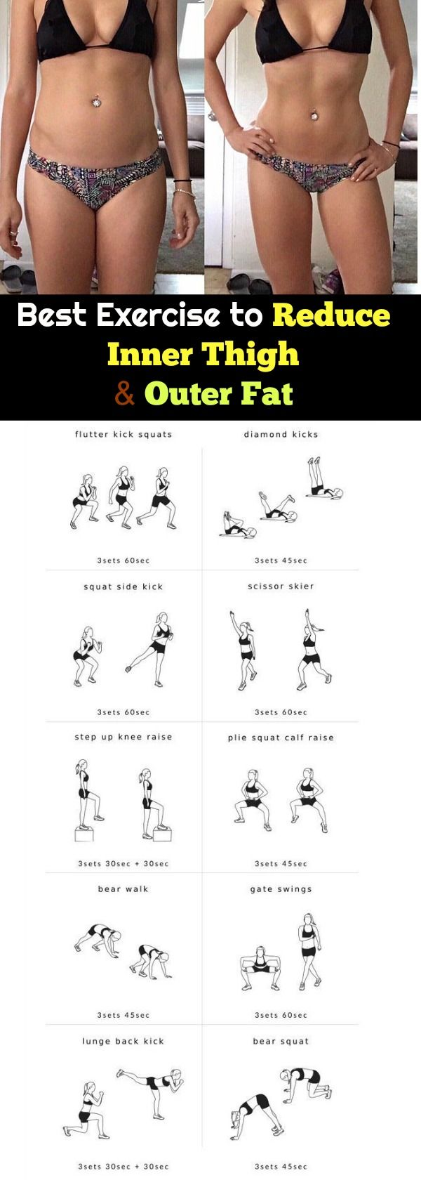 Best Exercise to Reduce Inner Thigh and Outer Fat Fast in a Week: In the exercise you will learn how to get rid of that suborn thigh fat and hips fat at home