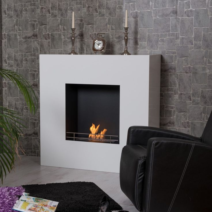 The surface of this biofireplace is designed in white, while the inner part, where the fire will be, is black. The white colour is easy to maintain and does not deteriorate from the fire. This is an unbelievably beautiful furniture and complement home décor in any living room!  Price: 749 GBP