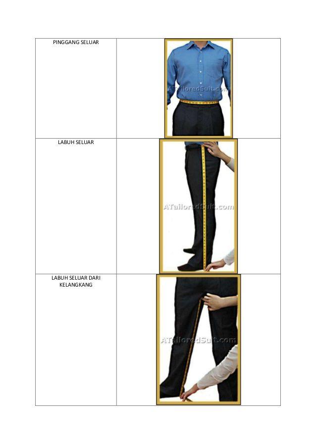 Cara mengambil ukuran badan lelaki