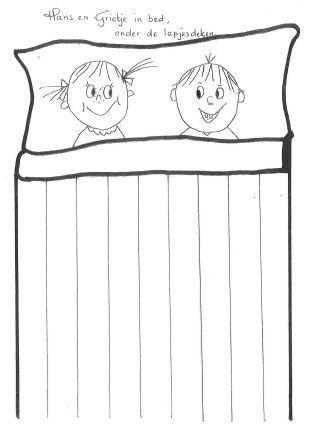 Hans en grietje onder de lapjes deken, vlechten: