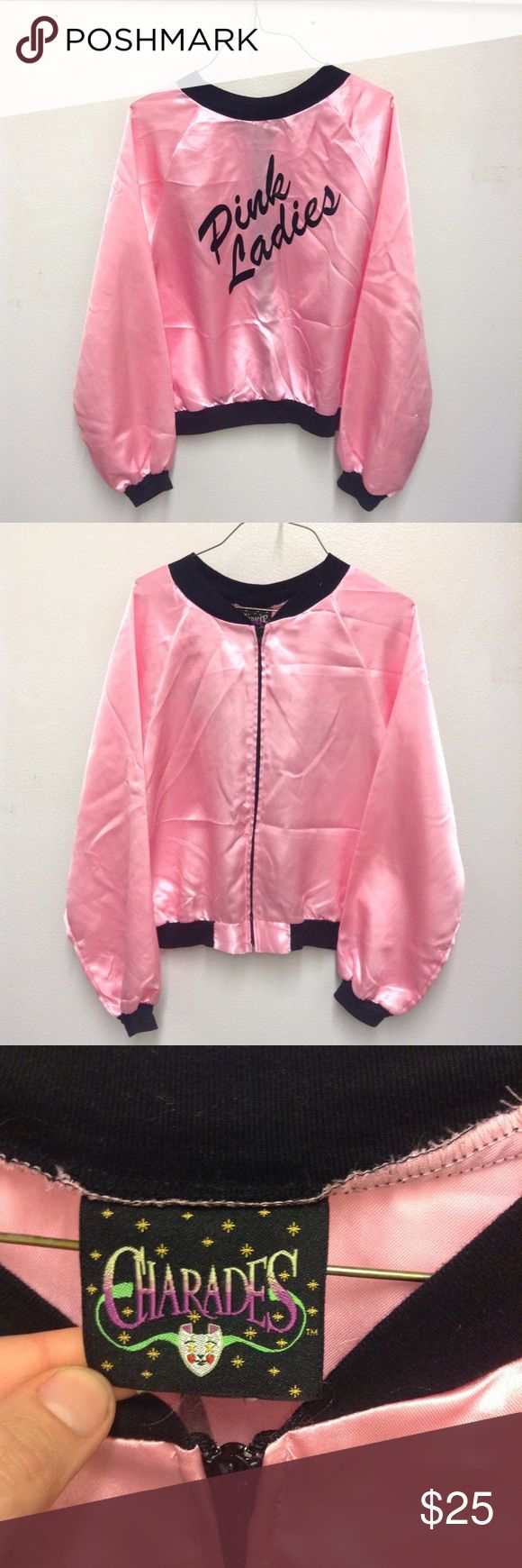 """80s Vintage """"Pink Ladies"""" Satin Bomber Jacket I am so in love with this!! ✨ Amazing pink satin jacket from the 80s!A few snags here and there but nothing too noticeable. Would look great with a pain or skinny jeans and a tank top! Live it up throwback style! { vintage retro 80s 1980s nostalgia pink pastel kawaii } Jackets & Coats"""