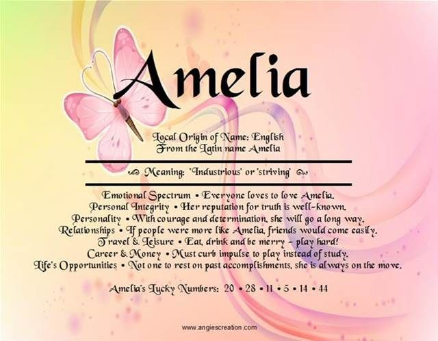 amelia meaning of name - Bing Images | Names with meaning ...