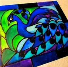 Faux Stained Glass Project Elmer S School Glue And Acrylic Paints