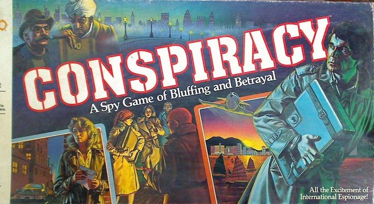 Vintage 1982 Conspiracy Spy Board Game Free Shipping #MiltonBradley