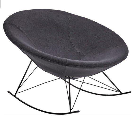 SalesFever Schaukelstuhl Designer Sessel Mit Gebogenen Kufen »Mona«