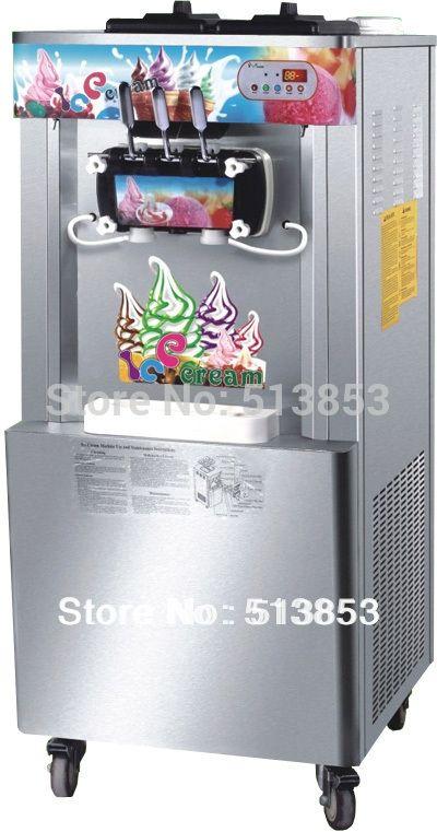 (1600.00$)  Watch here  - Stainless Steel,3 Heads, Ice cream output 32~35 liters/hour, Floor Standing Ice Cream Machine / Ice Cream Making Machine