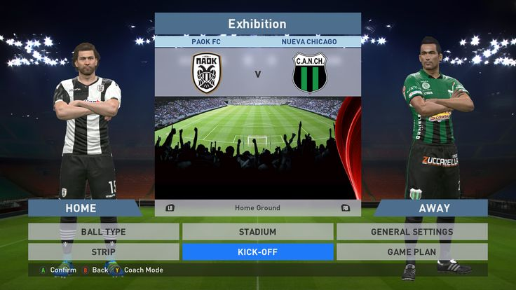 Paok FC vs Nueva Chicago, Toumba Stadium, PES 2016, PRO EVOLUTION SOCCER 2016, Konami, PC GAMEPLAY, PCGAMEPLAY