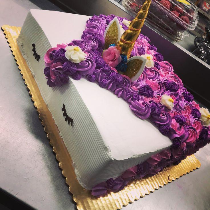 Unicorn Birthday Sheet Cake
