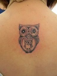 Mommy and Baby Owl Tattoos | Mother & Baby owl tattoo