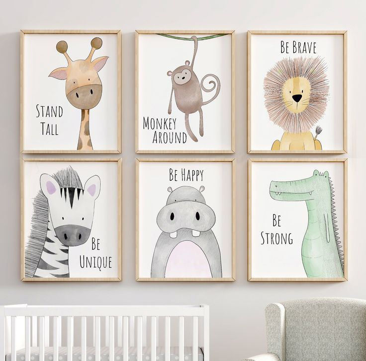 Safari Kinderzimmer Dekor, Animal Nursery Prints, Zitat Kinderzimmer Print, Peekaboo Nursery,…
