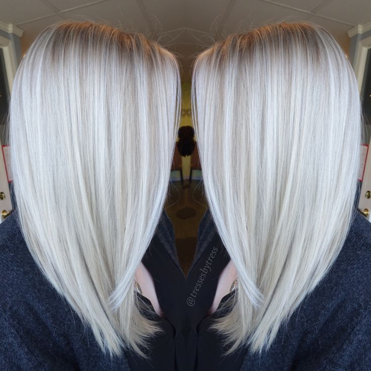 Platinum white blonde balayage                                                                                                                                                     More