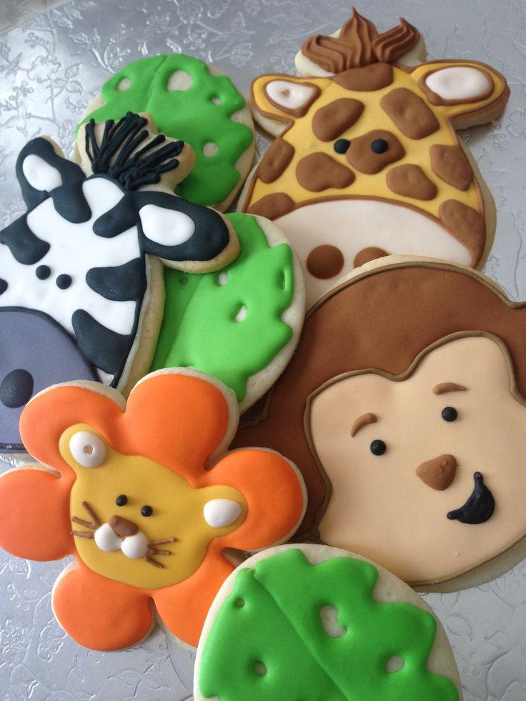 Jungle cookie platter