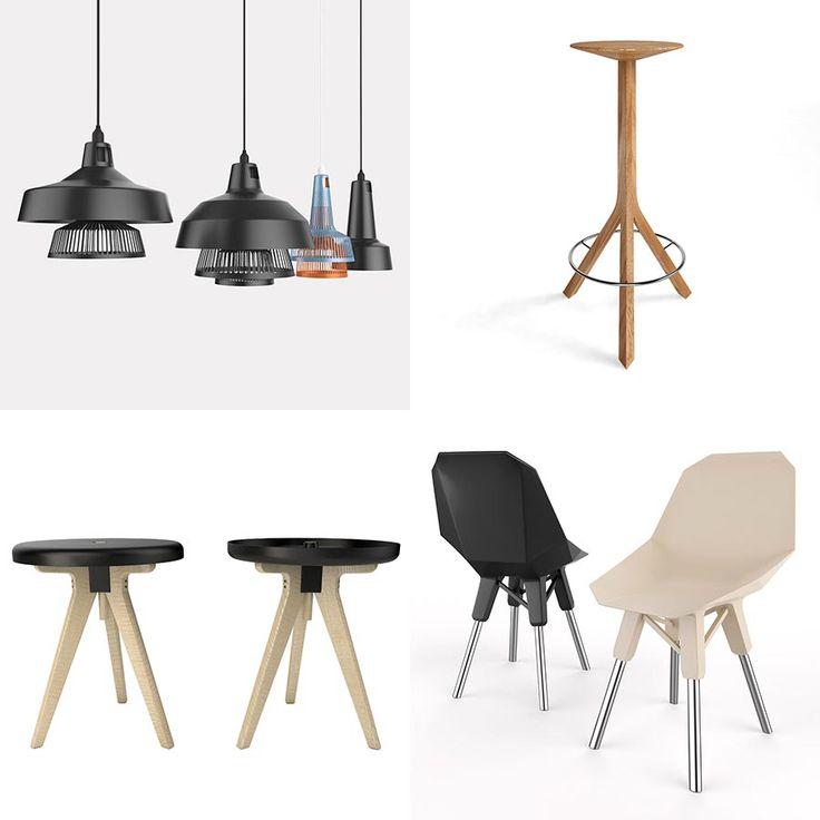 Hoy los dejamos con 4 modelos 3D gratis cortesía del estudio de visualización español VirtualPolygon.  La descarga corresponde a un mix de diferentes objetos, con 2 bancas (Flip Around y Kitchen Stool), una silla (Lockheed Chair) y una lámpara (Apollo Lamp).