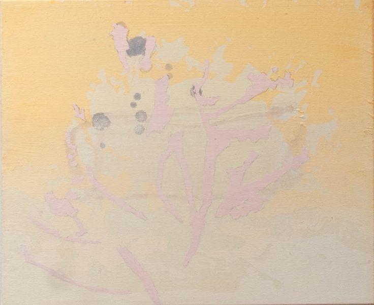 Josiane Lanthier - La lumière passe à travers les arbres 2  (2014) acrylique sur toile 10 x 12 pouces - Prix : 400$