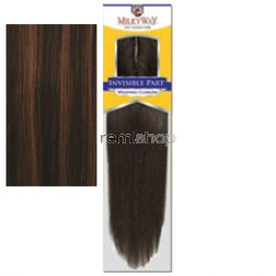 "Milky Way Invisible Part Weaving Closure 10"" - Color P4/30 - Human Closure - Invisible Part"