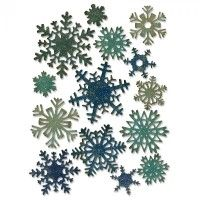 Tim Holtz Sizzix Thinlits Dies 14/Pkg - Paper Snowflakes, Mini