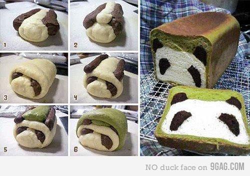 panda bread!!: Funny Panda Bread How To, Recipe, Weight, Panda Bread So, Food Breads Pretzels, Bread Panda, Pandas