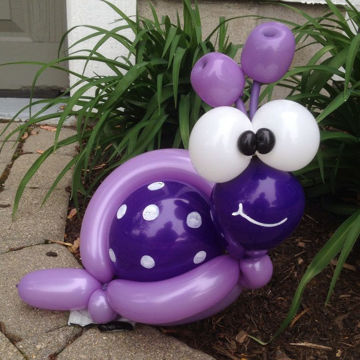 Day 228: Purple-Spotted #Garden #Snail #BalloonAnimals