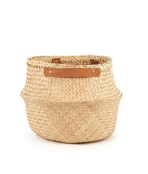 Leather Handled Belly Basket – Natural | Six By Eight | Store