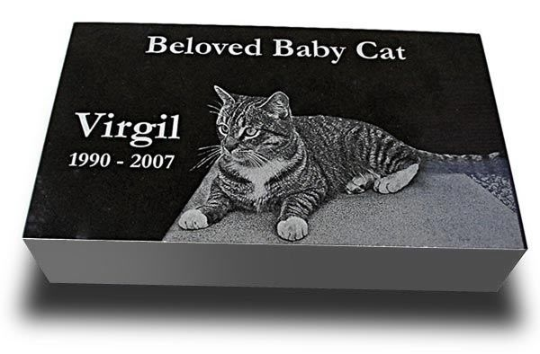 "Premium Pet Grave Marker Headstone (Medium 10"" x 6"" x 2"") for Dogs & Cats - http://pets.goshoppins.com/pet-memorials-urns/premium-pet-grave-marker-headstone-medium-10-x-6-x-2-for-dogs-cats/"