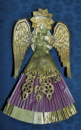 Antique German Dresden Angel Tree Top | eBay