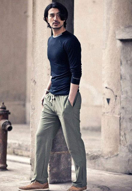 High quality Men Linen Pants Summer Style Joggers Solid Color Casual Loose Cotton and Linen sweatpants Trousers For Men