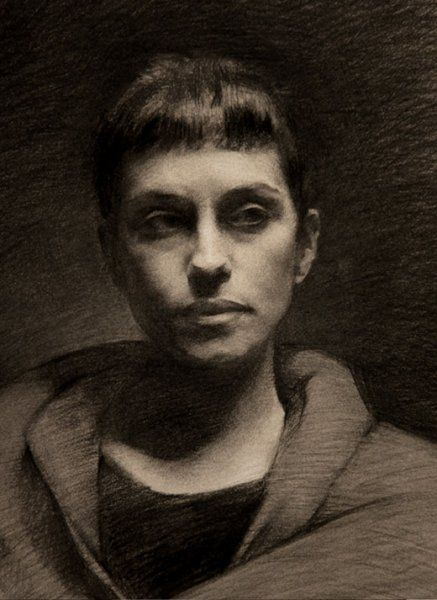 Luca Indraccolo's charcoal portrait