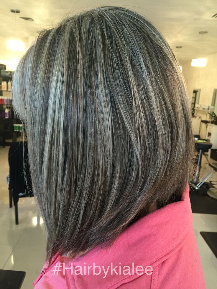 Natural grey with high and lowlights.