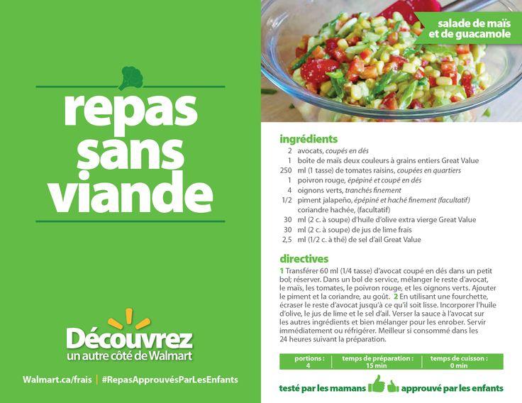 Cette salade d'été croquante et fraîche est prête en un rien de temps! #RepasApprouvésParLesEnfants