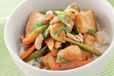 Stir-fry chicken with rice – Recipes – Bite