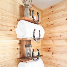 Organize your bathroom with this rustic storage solution! Perfect for adding a cabin-inspired or Southwestern touch to your home.