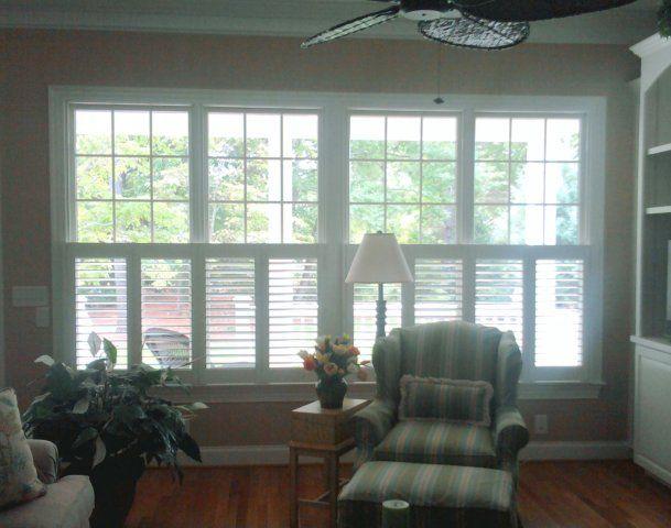 plantation shutters half window | Plantation Shutters Company, Wilmington, NC | Hurricane Shutters ...