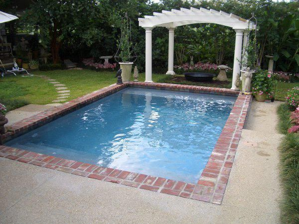 Brick Pool Coping Outdoor Living Swimming Pool
